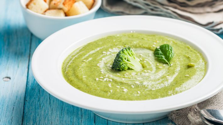 Receita de Sopa de brócolis