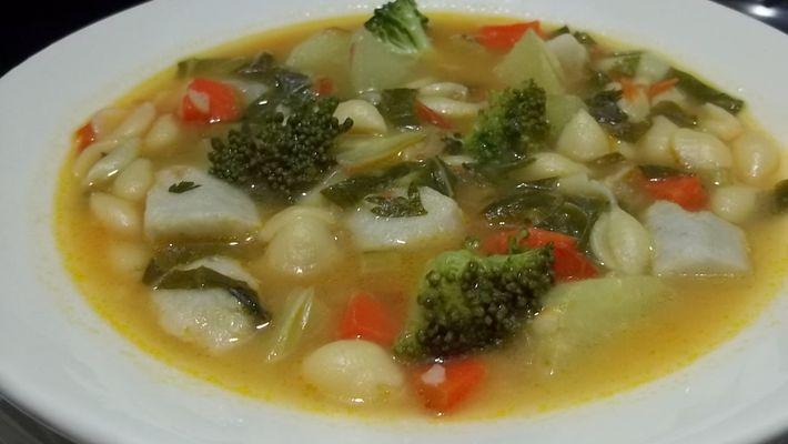 Receita de Sopa de legumes e verduras