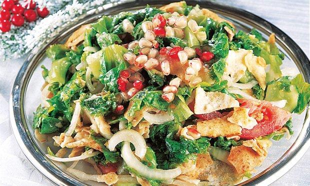 Salada com romã