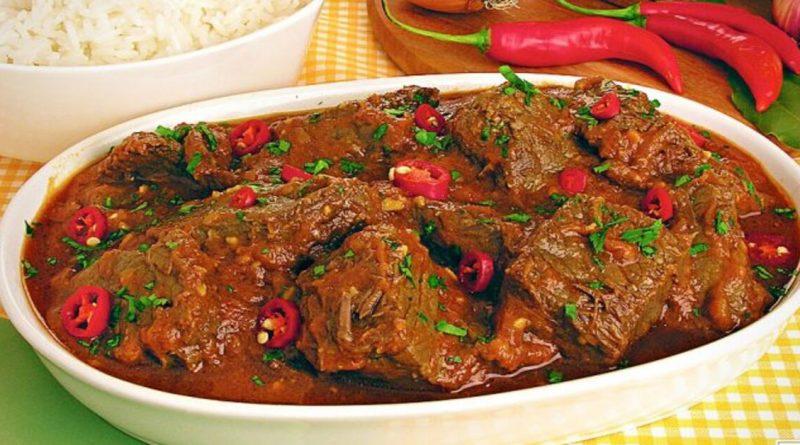 Receita carne de panela com molho picante