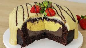 Bolo de chocolate com duplo recheio muito fácil e delicioso