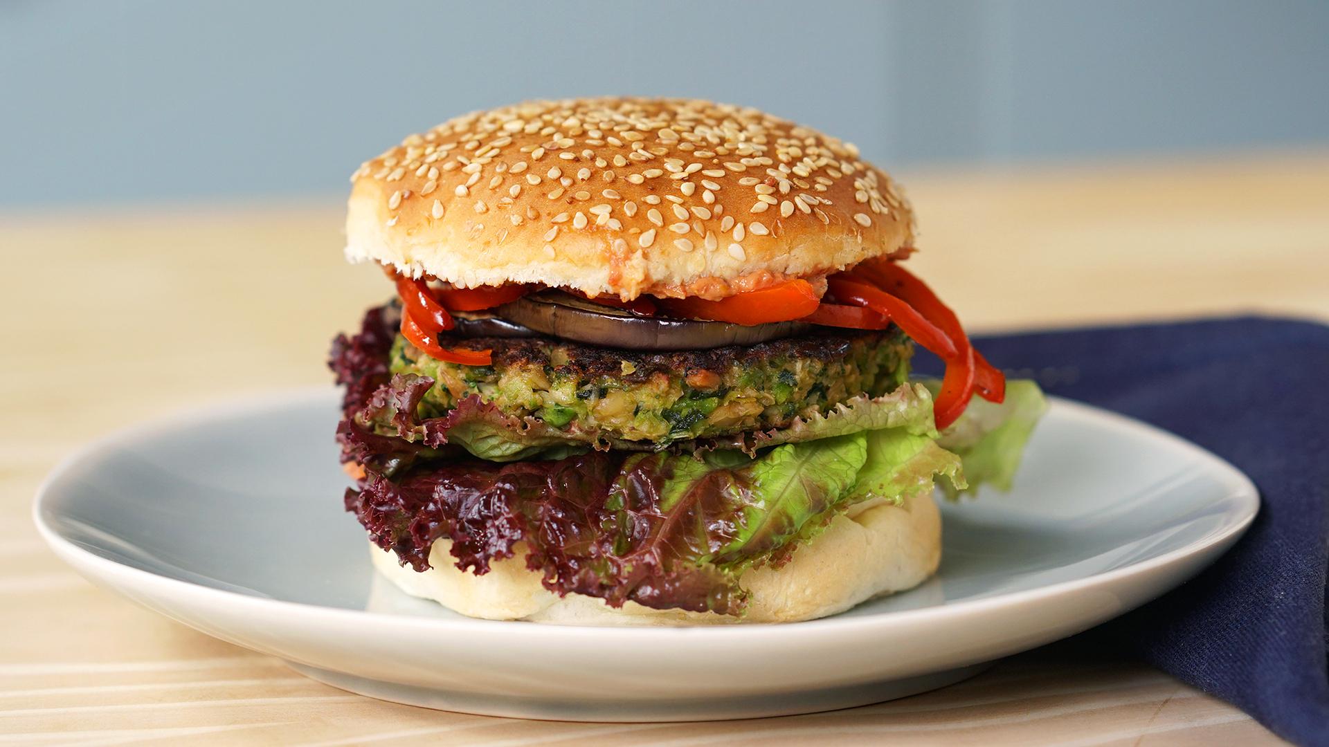 Hambúrguer vegetariano caseiro fácil