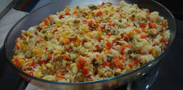 Receita de arroz a grega fácil e deliciosa