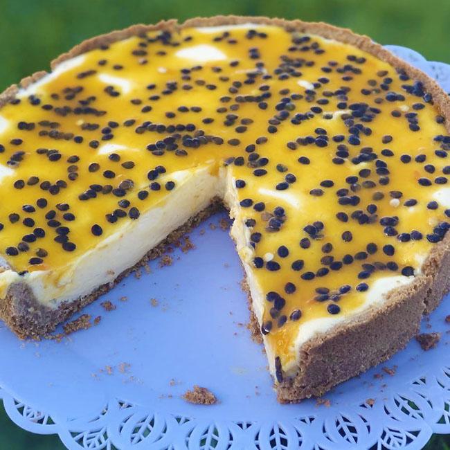 Torta de maracujá com biscoito muito fácil
