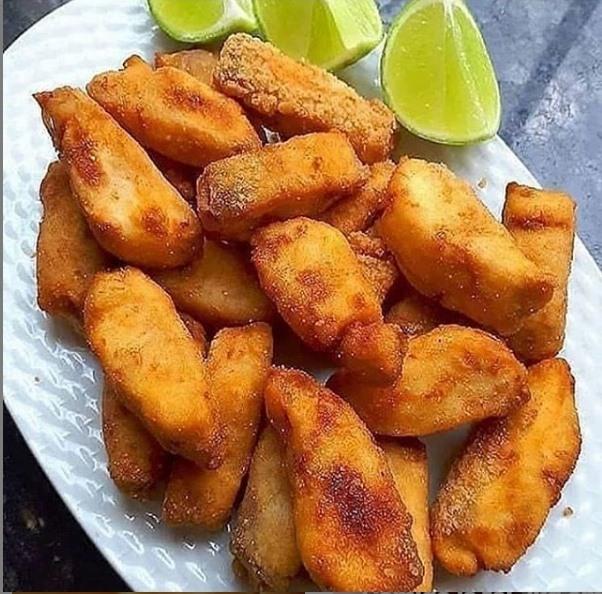 File de peixe empanado simples e muito bom
