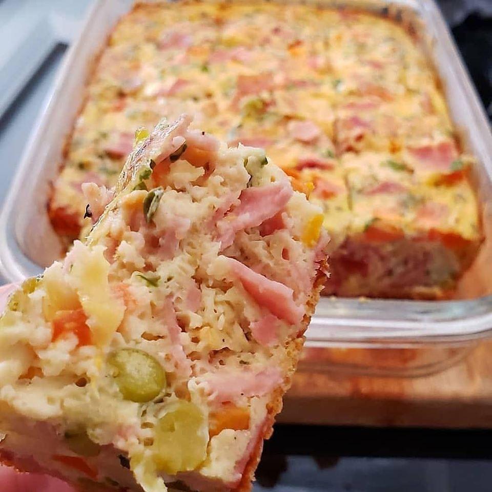 Omelete de forno rápido e muito pratico de fazer