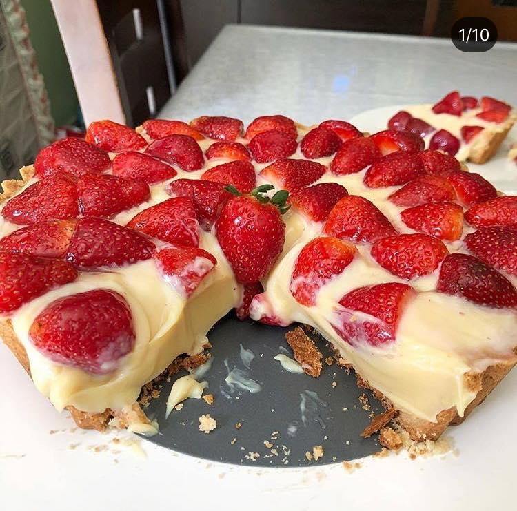 Torta de morangos fantástica