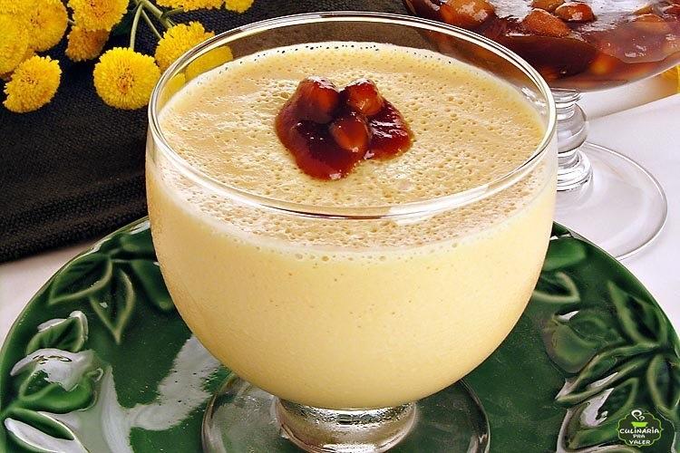 Mousse de abóbora com amendoim caseiro de dar água na boca