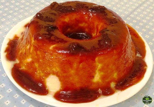 Pudim de queijo com goiabada cascão uma gostosura