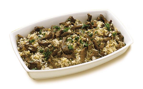 Fígado com arroz super simples e muito deliciosa