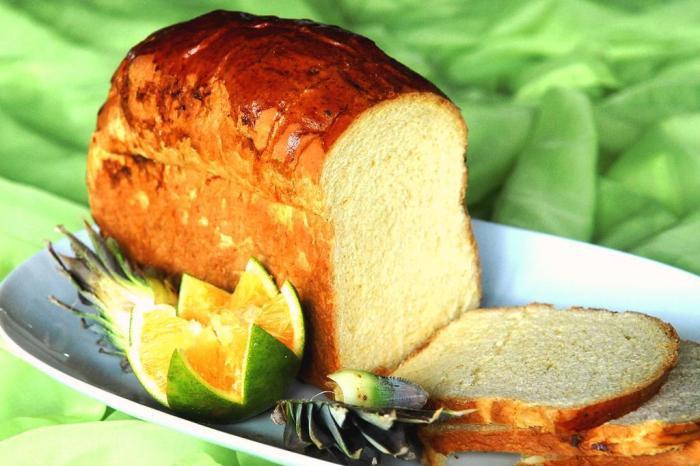 Pão de laranja fofinho com aroma delicioso