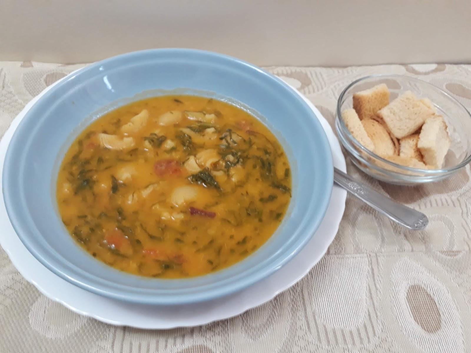Sopa de inhame para aquecer esses dias friozinhos fica muito delicioso