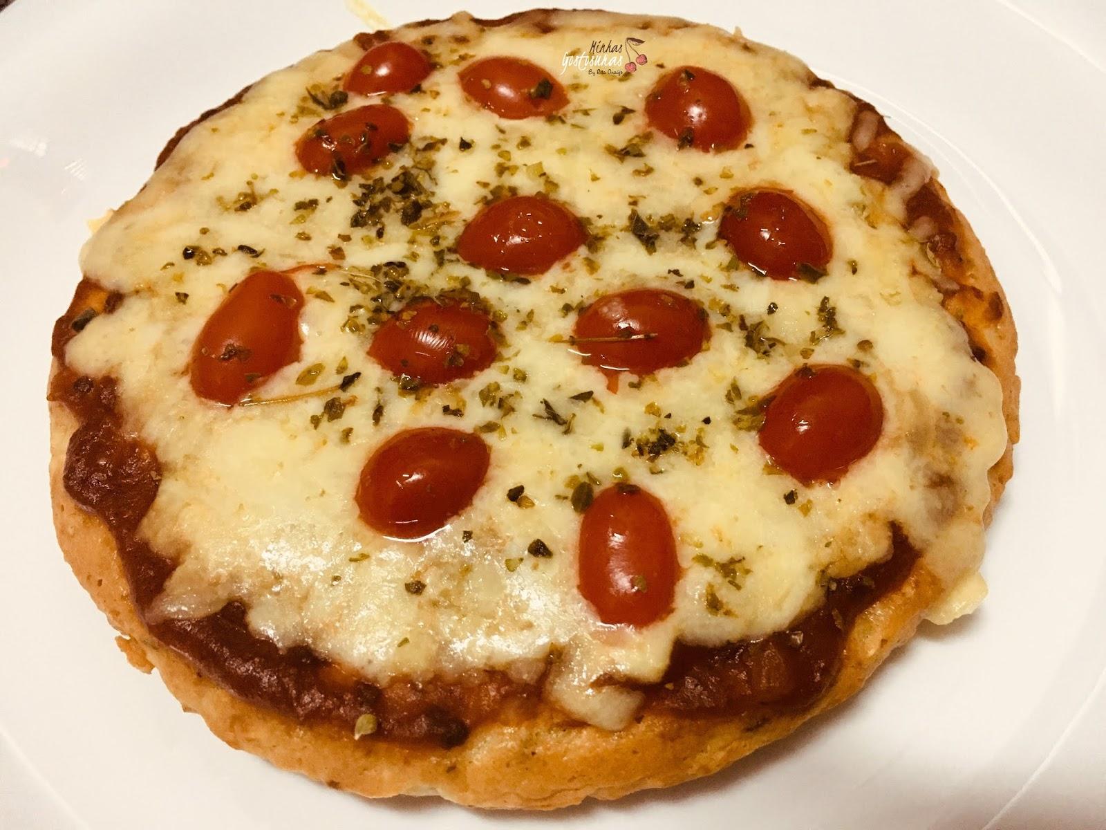 Pizza na frigideira simples fácil e muito rápido