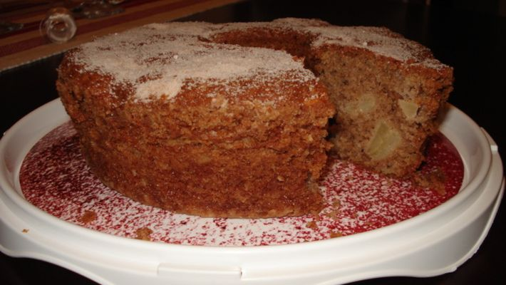 Bolo de maça de liquidificador - o melhor bolo que já comi